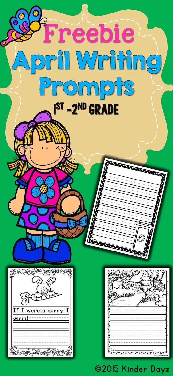 Writing Free: April Writing:This No Prep Writing packet contains many small writing activities all centered around the Easter and Earth Day. Great for primary writers K-2nd grade!  Contents include:  * 1 April Writing Activities  * 1 Free Writing Prompt S