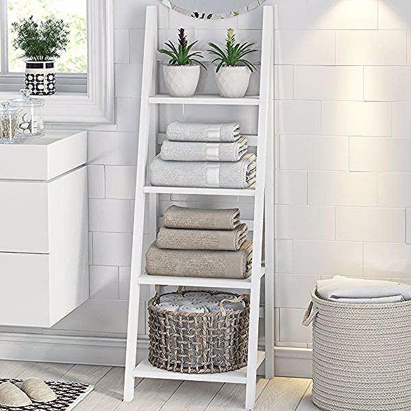 Dieses Badezimmer Set In Form Einer Leiter Ist Aus Lackiertem