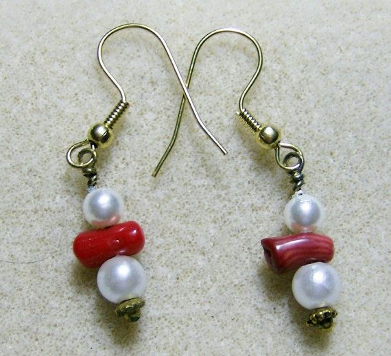 Red Coral Earrings  Outstanding Red Coral with by JewelryArtistry
