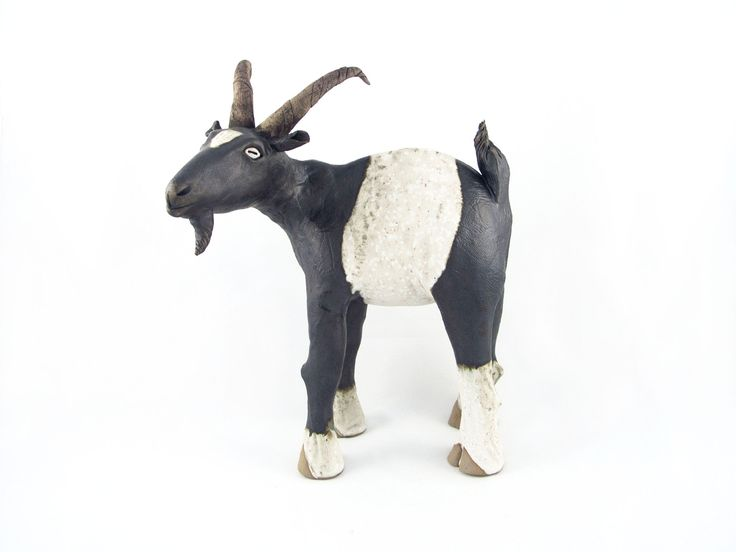 'George' Hand built ceramic goat.