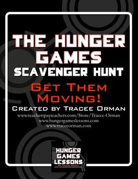 The Hunger Games Novel Scavenger Hunt Review Activity - great for those kids who can't sit still! $