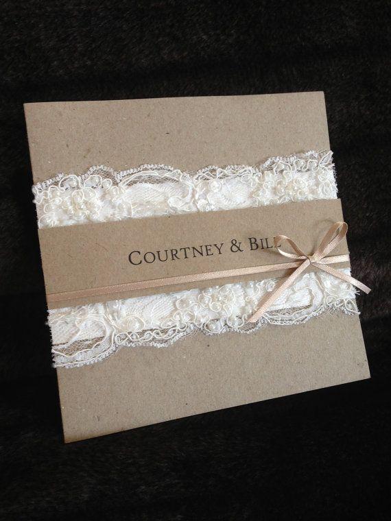 Handmade Vintage Lace Wedding Invitation by InvitationHouseSA, $11.95