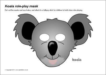 Koala role-play masks (SB6986) - SparkleBox