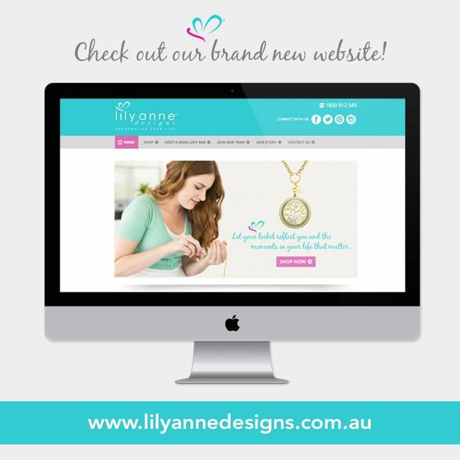 {New Website Design}  We are super excited to launch our new website today!  Check it out at:  www.lilyannedesigns.com.au/meganelliott Thumbs up for the new look!   #LilyAnneDesigns #PersonalisedLockets #NewDesigne