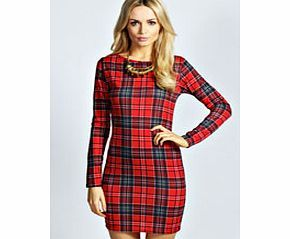 boohoo Amelia Tartan Long Sleeve Bodycon Dress - multi Take on top to toe tartan in this bad ass bodycon dress . Play on the punk trend and pair with a PU biker jacket , edgy embellished beanie and chunky Chelsea boots for all- about-attitude attire. http://www.comparestoreprices.co.uk/dresses/boohoo-amelia-tartan-long-sleeve-bodycon-dress--multi.asp