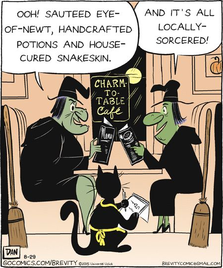 whatu0027s new on the menu brevity via gocomics halloween humorhappy