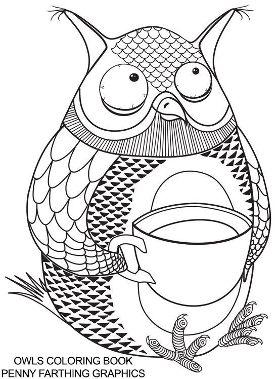 From Quot Owls Coloring Book Quot How Cool Is This Pinterest Owl Coloring Ideas
