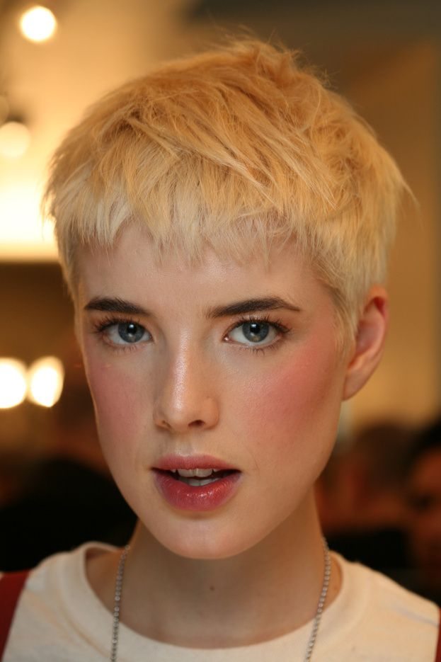 agyness deyn pixie ♡ cute soft warm girly tomboy makeup!