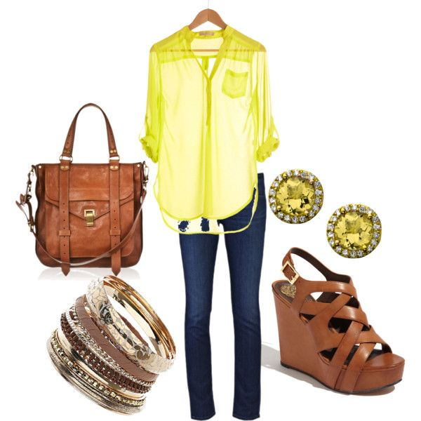 Love the yellow top