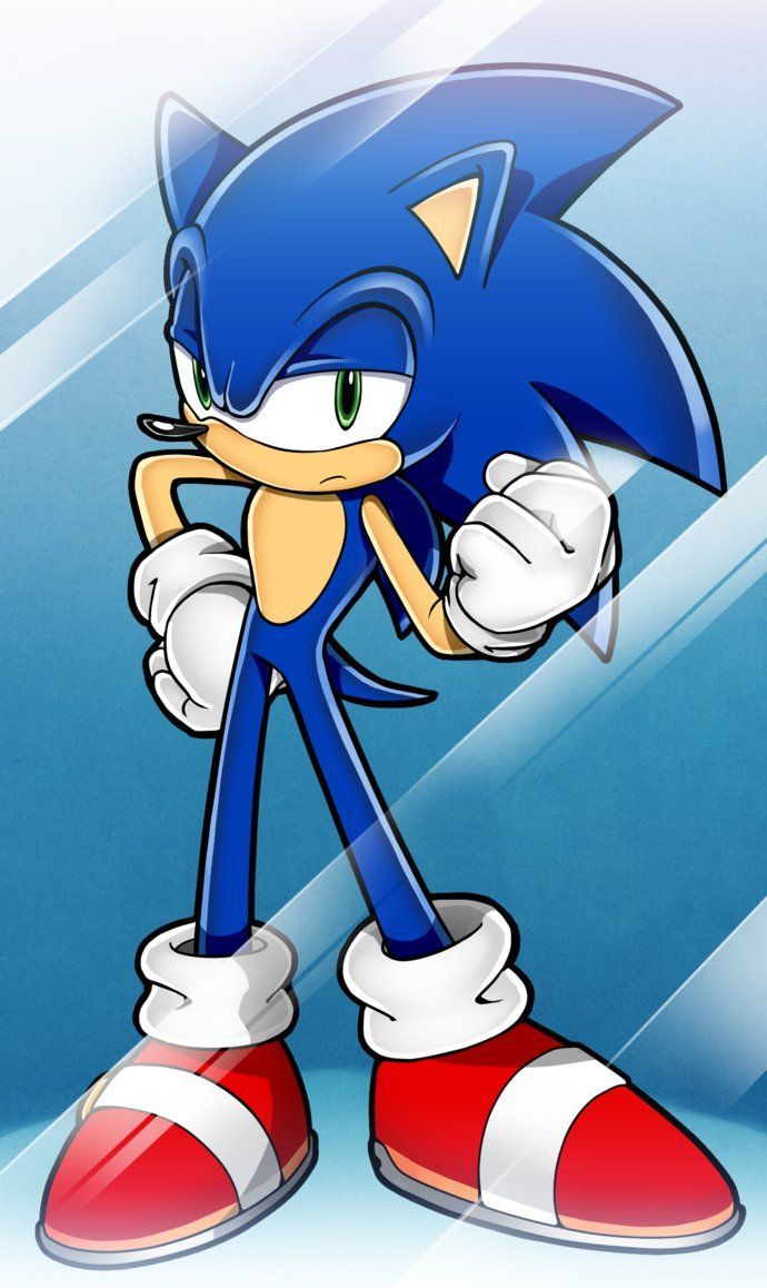 Sonic is knocking mobile phone by den255 on DeviantArt