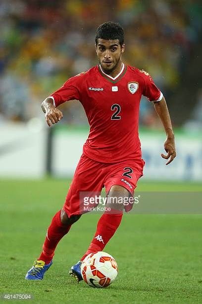 Mohammed AlMusalami of Oman runs the ball during the 2015 Asian Cup match between Oman and Australia at ANZ Stadium on January 13 2015 in Sydney...