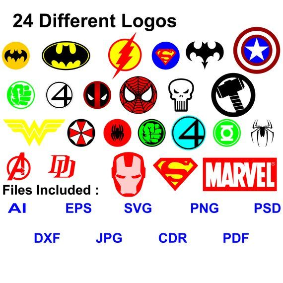 70 Off Superheroes Logos Clipart Marvel Vector Avengers