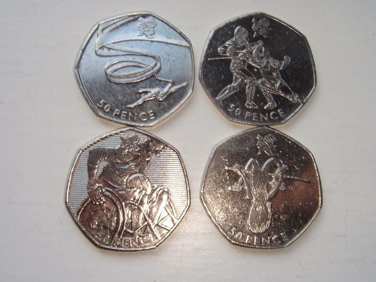 4 x 50p coins Fifty pence Olympics Gymnastics Fencing Athletics  Wheelchair £7.50 or Best Offer Ebay Uk item No 262889079196
