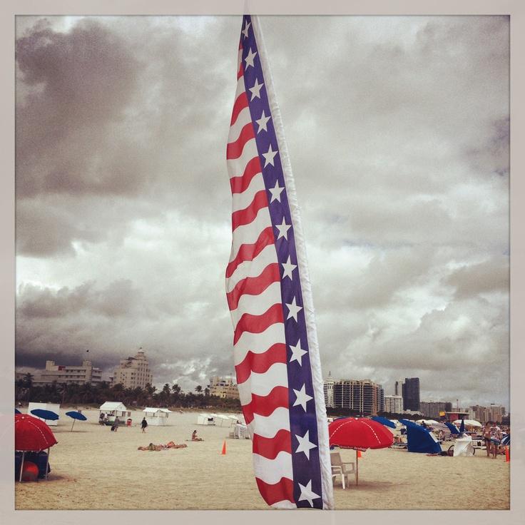 U.S.A Beach Flag