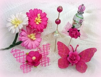 Perfectly Pink Flutterbies | my2angels scrapbooking and craft supplies