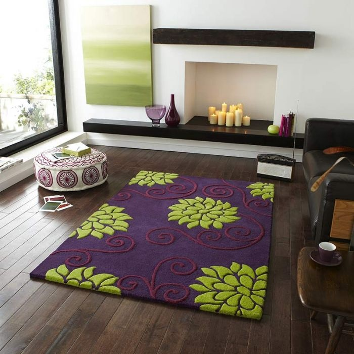 Showcase Your Interior Design Skills With This Fabulous Focal Point Purple Rug A Splash Of