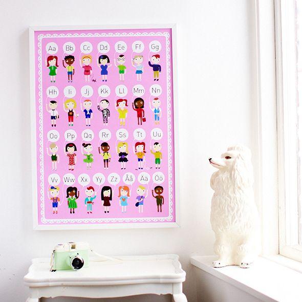 Rosa ABC affisch