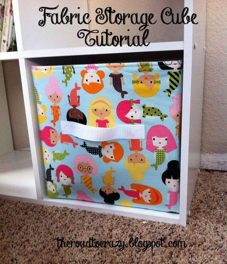 Kids' Toy Storage Part 2 - Fabric Storage Cube Tutorial