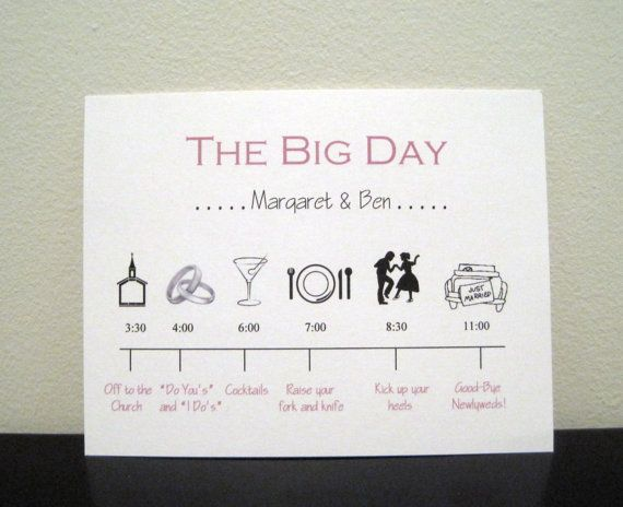 ...: Timeline Ideas, Wedding Day Timeline, Program Ideas, Cute Ideas, Wedding Invitations, Invitations Cards, Bridal Parties, Wedding Timeline, Timeline Invitations