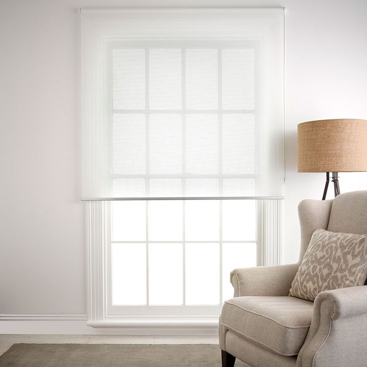 Pinnacle White Roller Blind 180x210cm Sheer 180x210cm