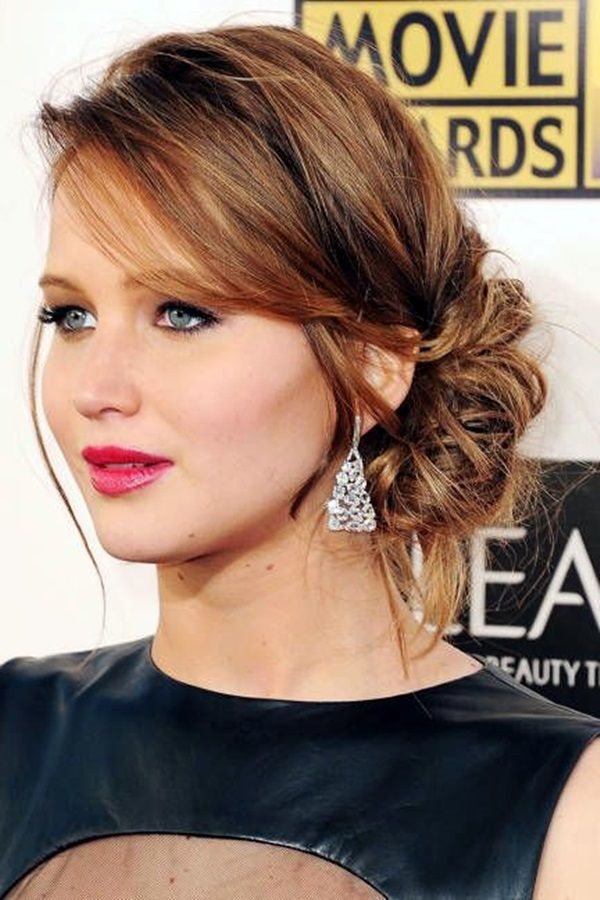 Messy Side Bun; New Years Eve Party Hairstyles 2016