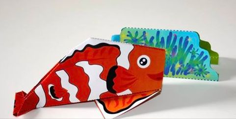 Pesce Pagliaccio e Anemone -origami- ALLEGATO CON IL CORRIERE DELLA SERA E LA GAZZETTA DELLO SPORT by irene mazza