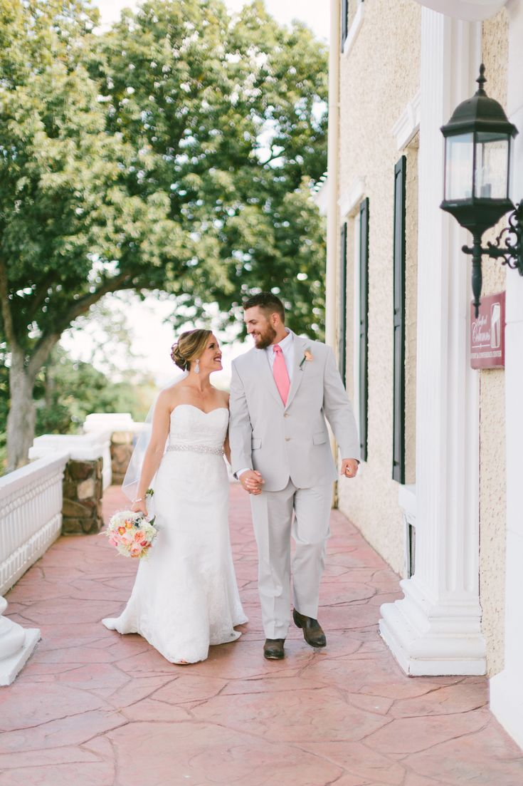 The open front porch with breathtaking vistas of the Blue Ridge Mountains… | Selecting Your Virginia Wedding Venue | Entwined Events | Venue: The Bedford Columns in Bedford, VA | Photo Credit: Nikki Metcalf Photography