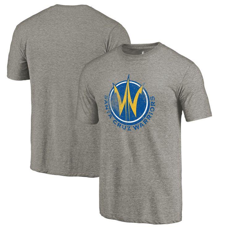 Santa Cruz Warriors Fanatics Branded Distressed Primary Tri-Blend T-Shirt - Gray