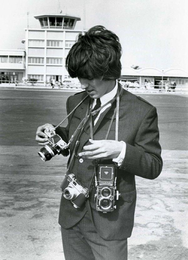 George Harrison with the Nikon F, Kodak Retina IIS and Rolleiflex