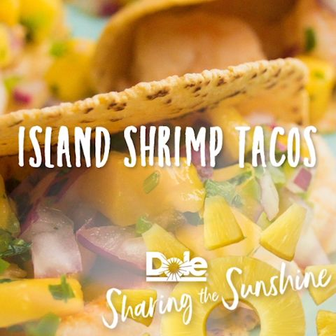 These Island Shrimp Tacos are perfect any time of the day!