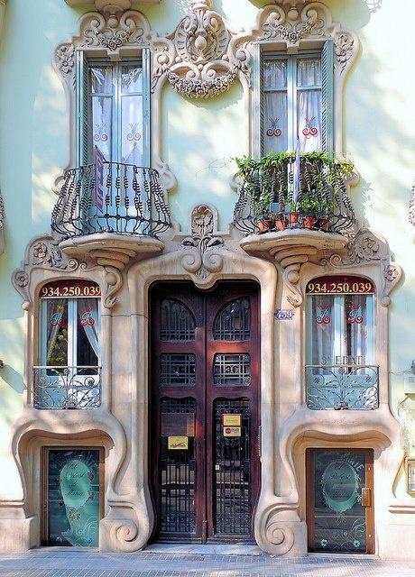 Windows in Barcellona Spain