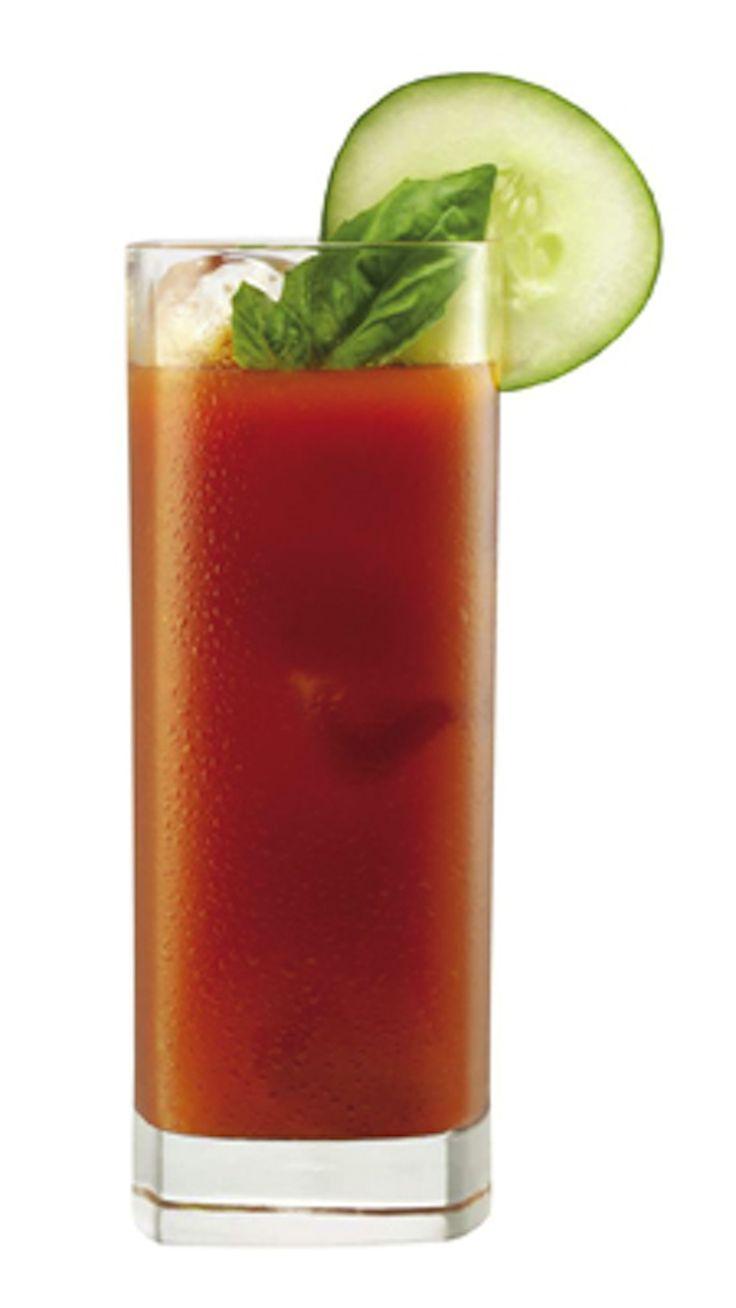 cucumber vodka bloody mary- SO good!