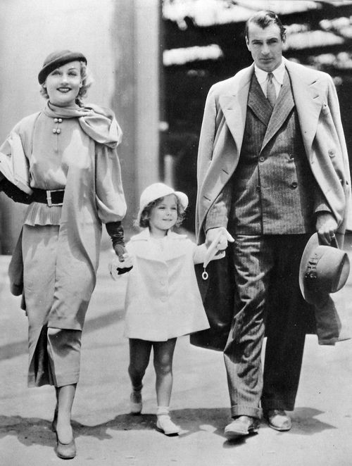 Gary Cooper, Carole Lombard and Shirley Temple Now and Forever (1934)