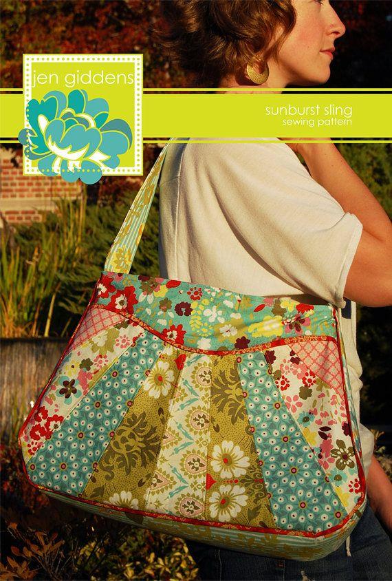 Sunburst Sling Bag PDF Sewing Pattern by Jen Giddens