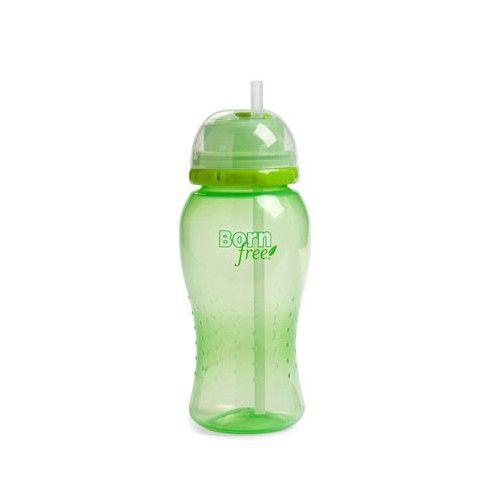 Bornfree Twist'n Pop Straw Cup - 18 Months and Up - Green - Case of 4 - 14 oz