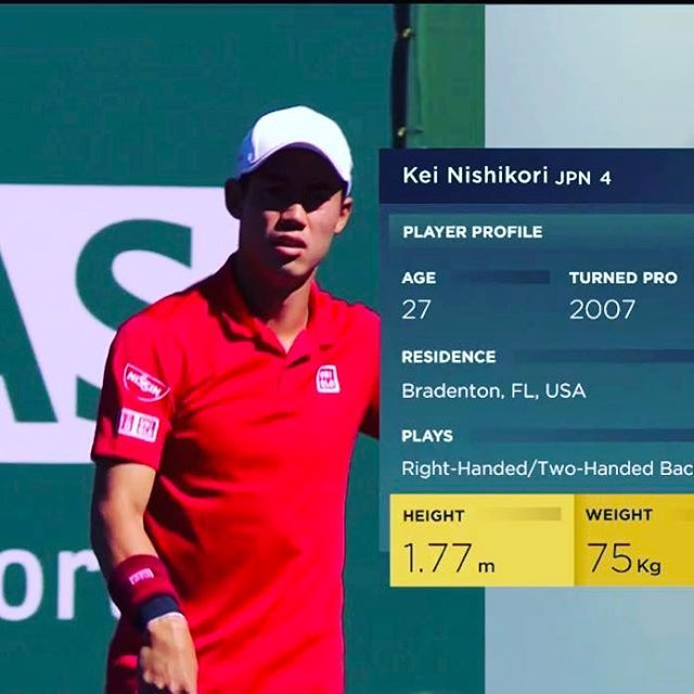 Pinを追加しました!/#indianwells 2回戦 錦織圭選手登場!  #GO錦織 #keinishikori #tennistv #wilson #burn95cv #tennis