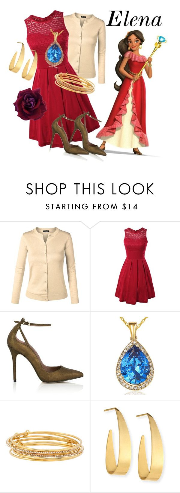 """Elena of Avalor disneybound"" by isabellefadel ❤ liked on Polyvore featuring Reiss, Suzy Levian, Kate Spade and Lana"