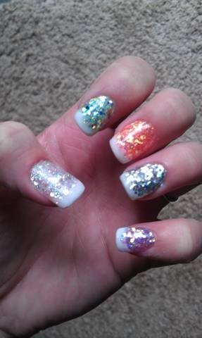 Acrylic nails I did