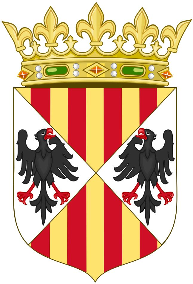 ARAGONESI   File:Arms of the Aragonese Kings of Sicily(Crowned).svg - Wikimedia ...