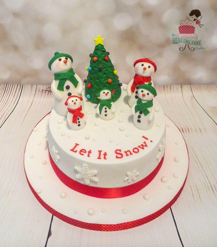 Snowman Family Christmas Cake  www.littlecakefairydublin.com www.facebook.com/littlecakefairydublin