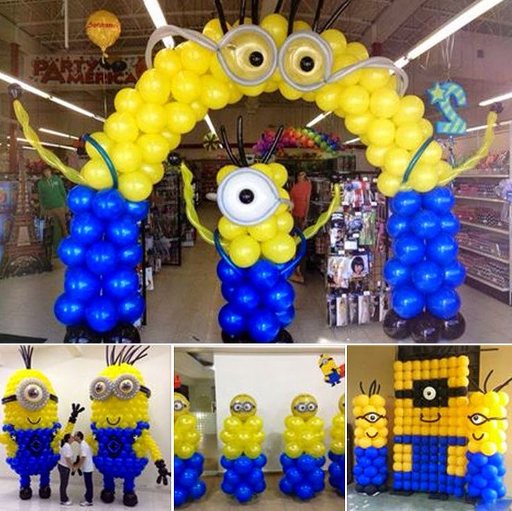 The 25 best minion balloons ideas on pinterest for Balloon decoration cars theme