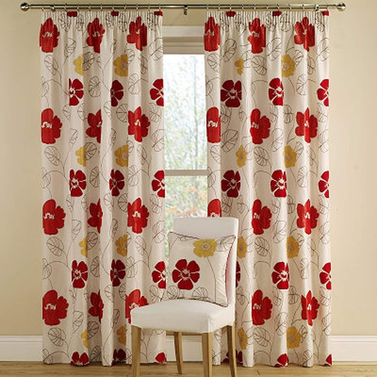 Montgomery Orange Tropic Floral Curtains 116X137Cm | Curtains | Arnotts