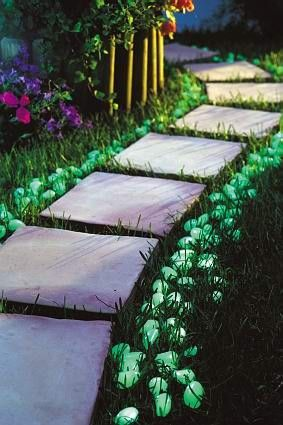 Great for garden ascents and pathways Glow stones and powder are expensive and it would cost you a small fortune to make a driveway like this but there is other more cost effective ways to use the...