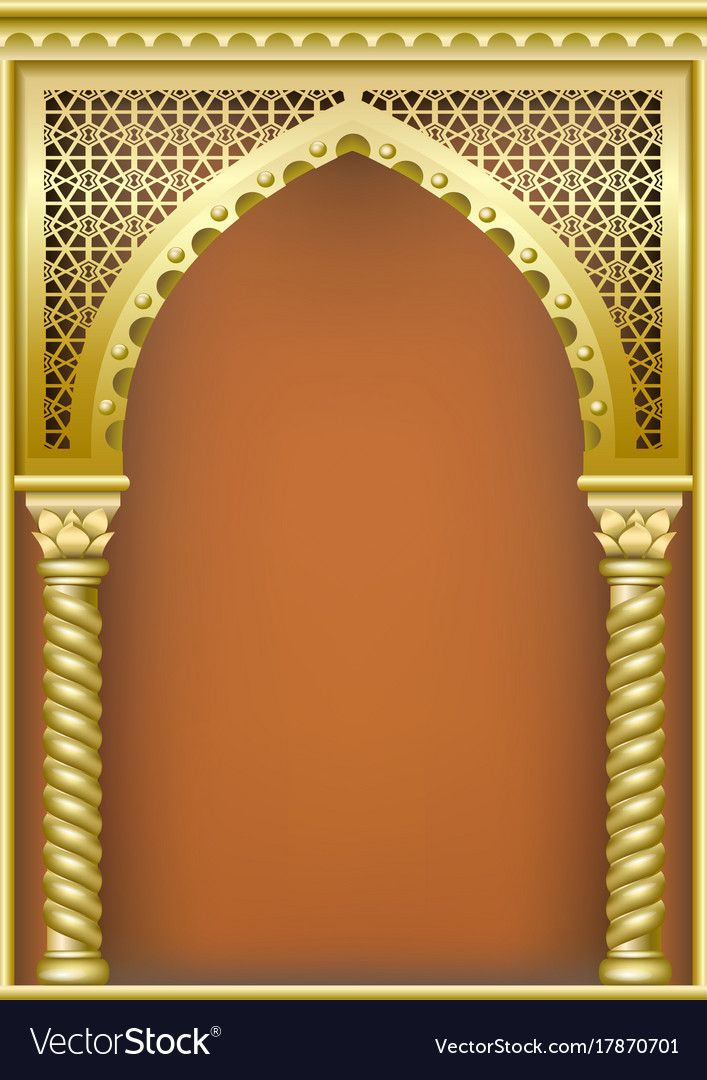 Cover With The Arab Arch Vector Image On Vectorstock Islamic Design Pattern Backdrop Design Islamic Design
