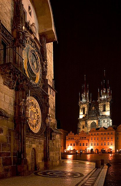Prague Astronomical Clock Old Time Square, Czech Republic. The Czech Republic is definitely placed high on the list for places to travel. I have great hopes of making this one become a reality.