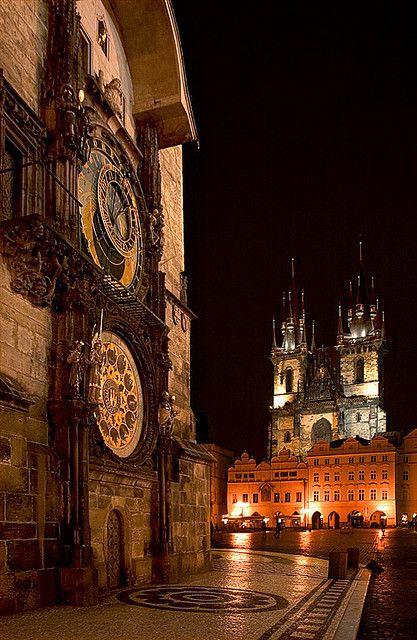 Prague Astronomical Clock Old Time Square, Czech Republic