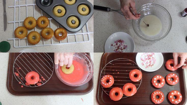 Donettes glaseados especiales para el día de los enamorados. Muy ricos!! Los puedes ver en mi blog Julia y sus recetas.