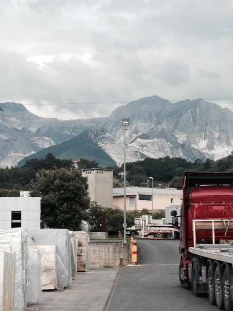 John is in Italy selecting new material!  Shot from the quarry!