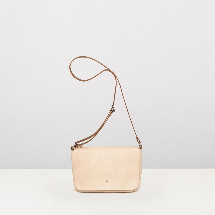Leather crossbody bag in putty | Ally Capellino | Ally Capellino