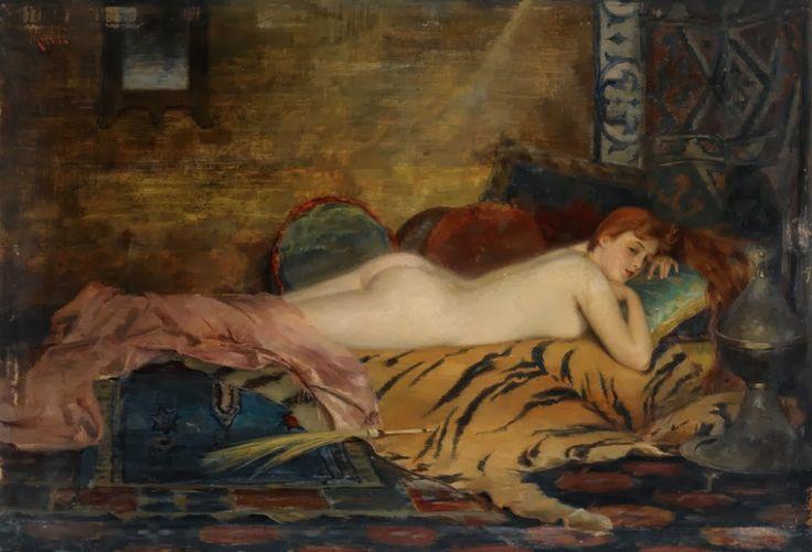 Ξαπλωμένη γυμνή γυναίκα